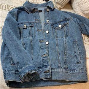 missguided oversized jean jacket